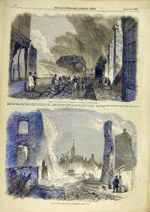 London Illustrated News: Fire High Street Gravesend