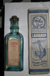Laudanum, an opium based painkiller, was one of the treatments prescribed for tuberculosis during this period.