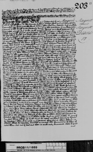 Will of Margaret Deane - the grandmother of Margaret Henderson