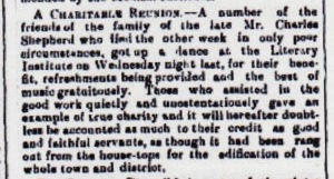 "Fundraising for family reported in ""Braidwood Dispatch"" 1897."