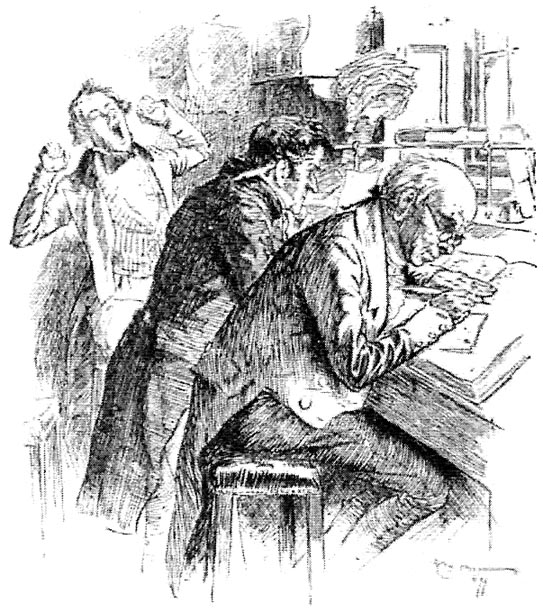 "Clerical work Victorian England. Source: Illustration at right from William MacDonald, ed., ""Superannuated Man,"" The Last Essays of Elia, in The Works of Charles Lamb, Vol. II, p. 86"