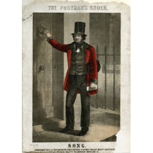 Sketch of a postman around 1840