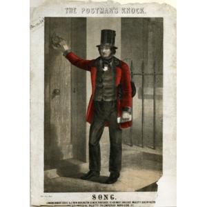 Sketch of a postman around 1840