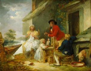 The Cottage Door, George Morland 1790
