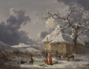 Winter Landscape with Figures. George Morland. 1785