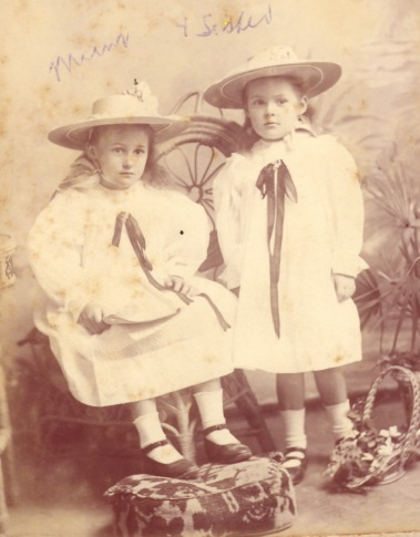 Hazel Annie and her sister Ethel Edith photographed around 1900. Biggs Family Collection. Privately held by MC McGregor