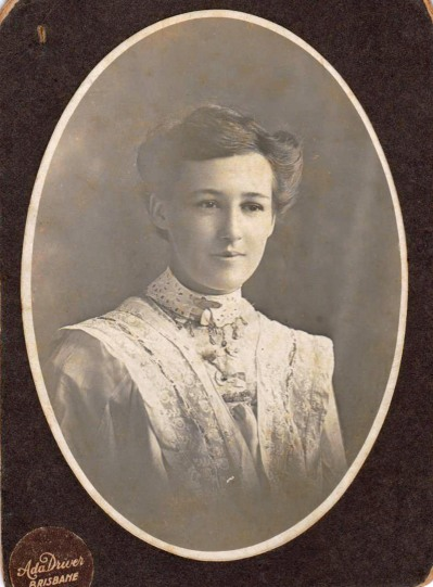 Hazel Annie at 16 years around the time she started work. Biggs Family Private Collection. Original Photo held by CM McGregor. Digital image taken by CM Mcgregor 2016